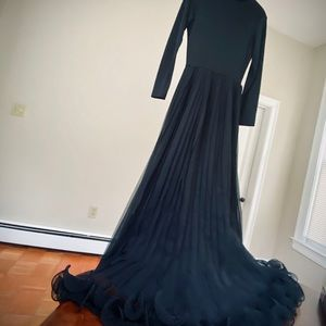Vintage 60s floor-length goth gown, SM